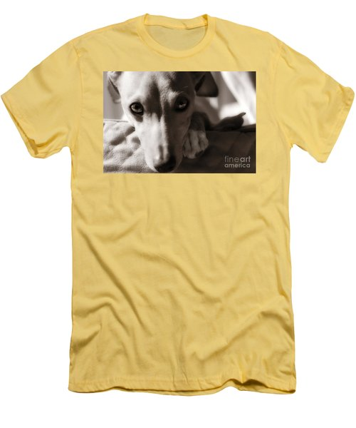 Men's T-Shirt (Slim Fit) featuring the photograph Heart You by Angela Rath