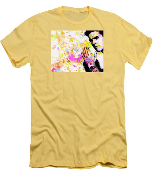Men's T-Shirt (Slim Fit) featuring the mixed media Kaka by Svelby Art