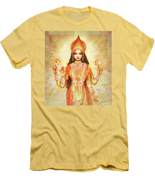 Lakshmi The Goddess Of Fortune And Abundance Men's T-Shirt (Athletic Fit)