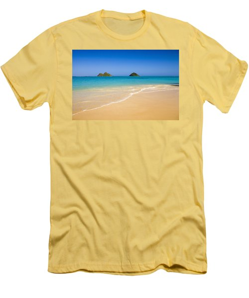 Lanikai, Mokulua Islands Men's T-Shirt (Slim Fit) by Tomas del Amo - Printscapes