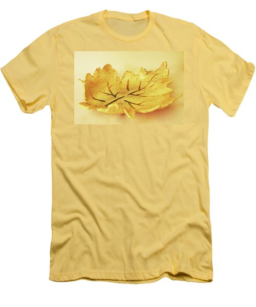 Men's T-Shirt (Slim Fit) featuring the photograph Leaf Plate2 by Itzhak Richter