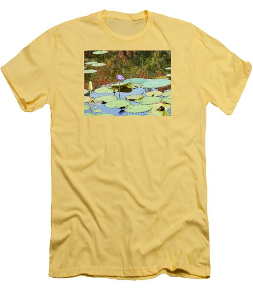 Lily Pond Men's T-Shirt (Slim Fit) by Kay Gilley