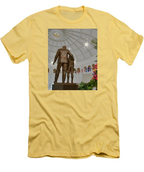 Men's T-Shirt (Athletic Fit) featuring the photograph Milton Hershey And The Boy by Mark Dodd