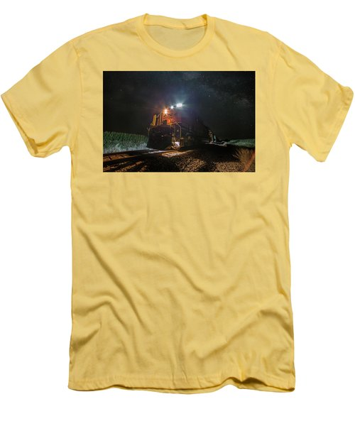 Men's T-Shirt (Slim Fit) featuring the photograph Night Train  by Aaron J Groen