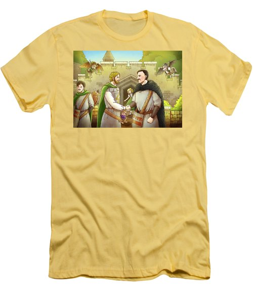 Robin Hood And The Captain Of The Guard Men's T-Shirt (Slim Fit) by Reynold Jay