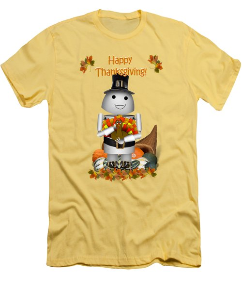 Robo-x9 The Pilgrim Men's T-Shirt (Athletic Fit)