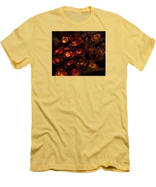 Rose Sparkle Men's T-Shirt (Slim Fit) by JAMART Photography