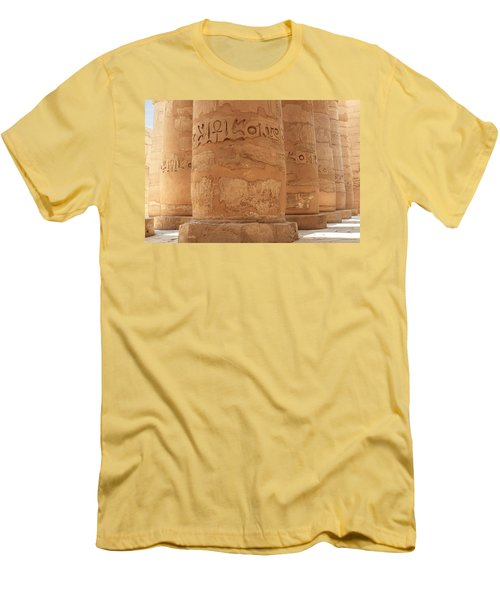 Men's T-Shirt (Athletic Fit) featuring the photograph Temple Of Karnak by Silvia Bruno