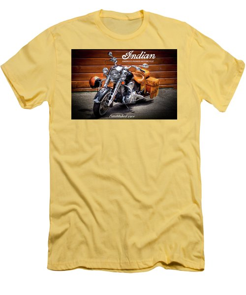 The Indian Motorcycle Men's T-Shirt (Slim Fit) by David Patterson