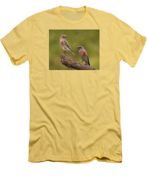 Men's T-Shirt (Slim Fit) featuring the photograph Western Bluebird by Doug Herr