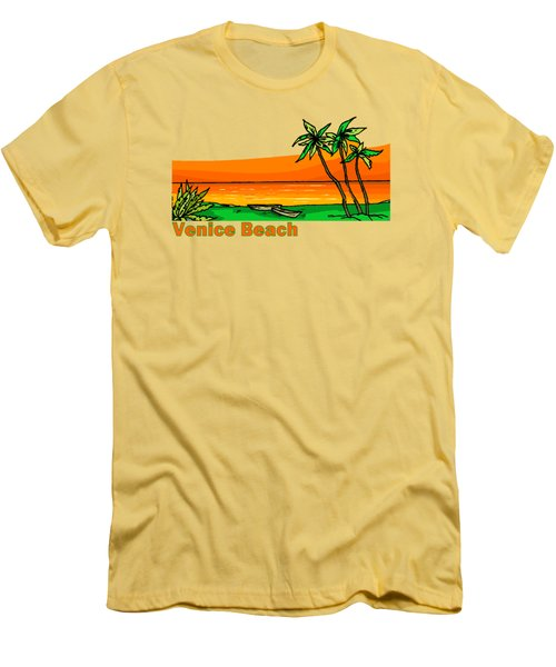 Venice Beach Men's T-Shirt (Slim Fit) by Brian Edward