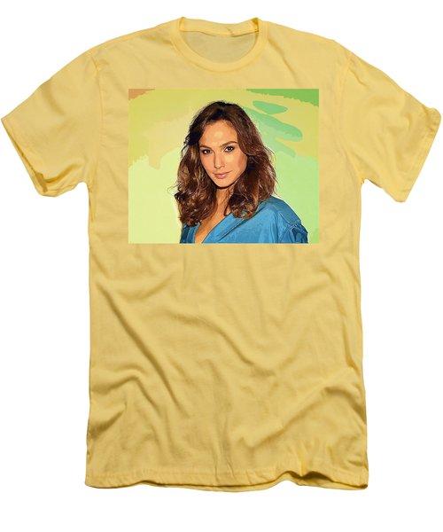 Gal Gadot Art Men's T-Shirt (Athletic Fit)