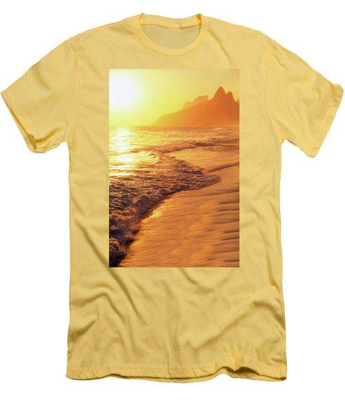 Ipanema Beach Rio De Janeiro Brazil Men's T-Shirt (Slim Fit) by Utah Images