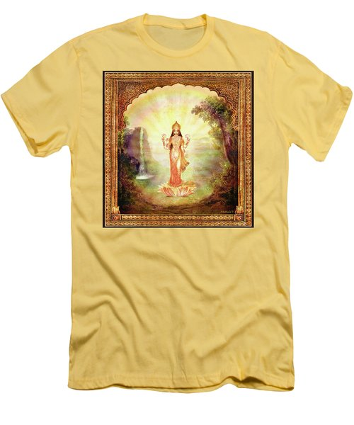 Lakshmi With The Waterfall Men's T-Shirt (Slim Fit) by Ananda Vdovic