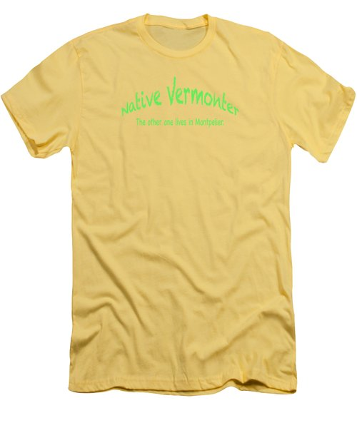 Native Vermonter Men's T-Shirt (Slim Fit) by George Robinson