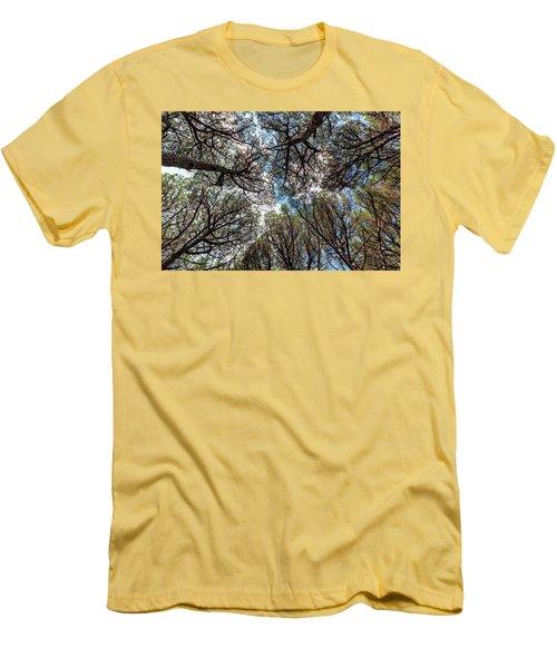 Pinewood Forest, Cecina, Tuscany, Italy Men's T-Shirt (Slim Fit) by Elenarts - Elena Duvernay photo