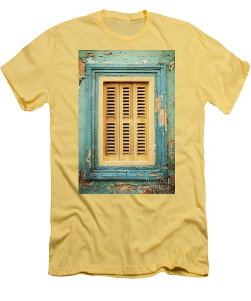 Traditional House Window Architecture Detail La Valletta Old Tow Men's T-Shirt (Athletic Fit)