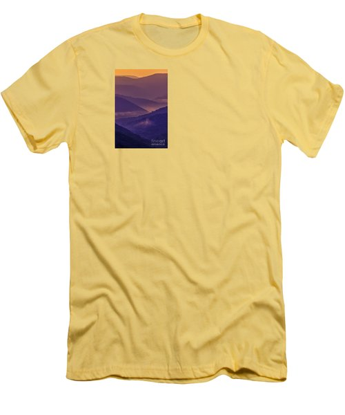 Allegheny Mountain Sunrise Men's T-Shirt (Slim Fit) by Thomas R Fletcher