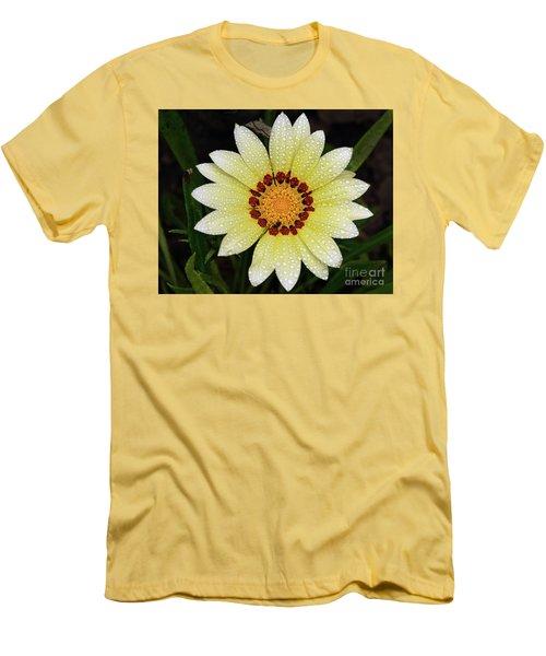 Nice Gazania Men's T-Shirt (Slim Fit) by Elvira Ladocki