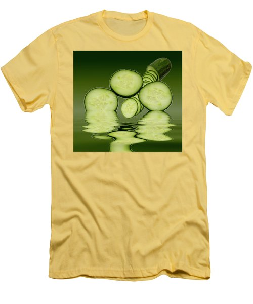 Cool As A Cucumber Slices Men's T-Shirt (Slim Fit) by David French