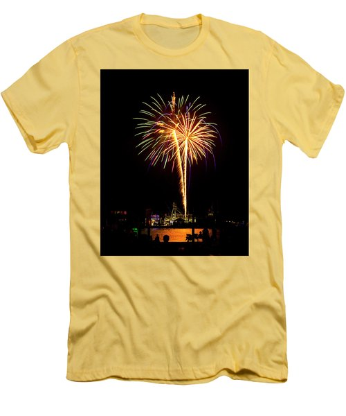 4th Of July Fireworks Men's T-Shirt (Slim Fit) by Bill Barber