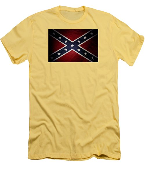 Confederate Flag Men's T-Shirt (Slim Fit) by Les Cunliffe