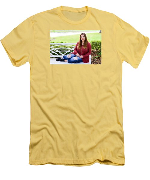 Men's T-Shirt (Slim Fit) featuring the photograph 5554 by Teresa Blanton
