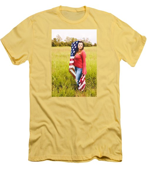 Men's T-Shirt (Slim Fit) featuring the photograph 5624-2 by Teresa Blanton