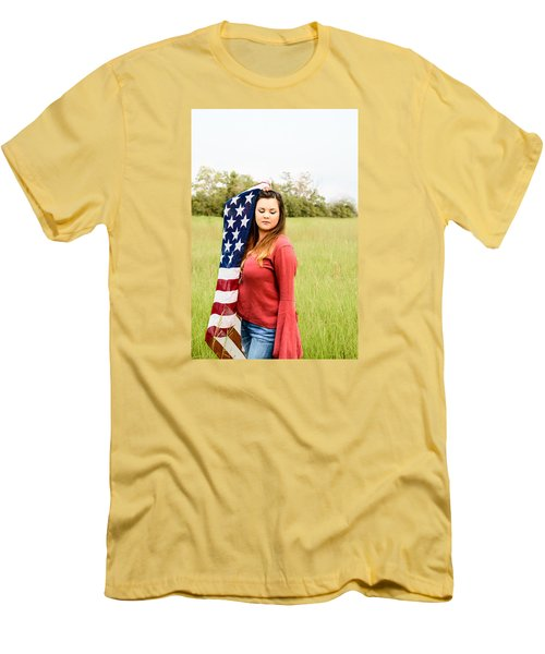 Men's T-Shirt (Slim Fit) featuring the photograph 5626-2 by Teresa Blanton