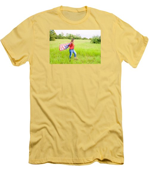 Men's T-Shirt (Slim Fit) featuring the photograph 5640-2 by Teresa Blanton