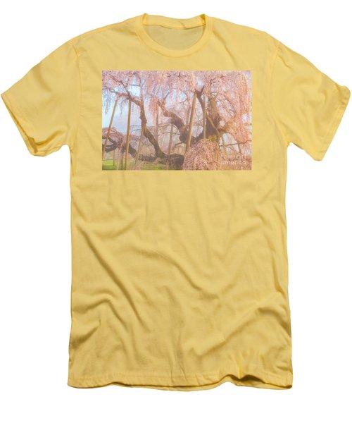 Men's T-Shirt (Athletic Fit) featuring the photograph Miharu Takizakura Weeping Cherry07 by Tatsuya Atarashi