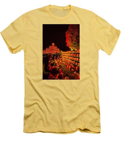 Men's T-Shirt (Slim Fit) featuring the photograph Pumpkinfest 2015 by Robert Clifford