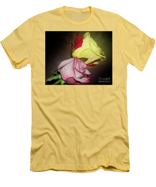 Men's T-Shirt (Slim Fit) featuring the photograph Roses by Elvira Ladocki