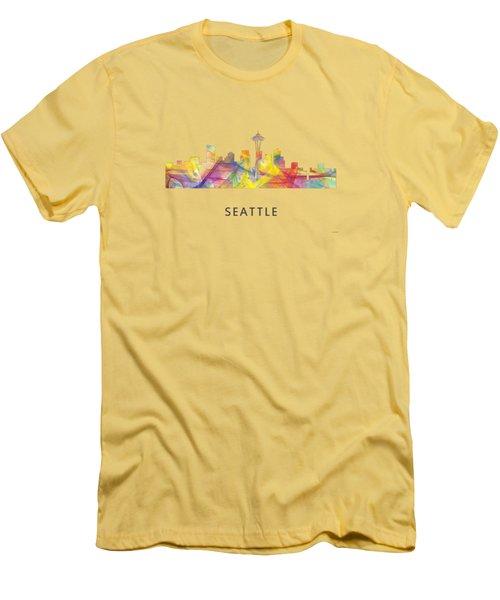 Seattle Washington Skyline Men's T-Shirt (Athletic Fit)