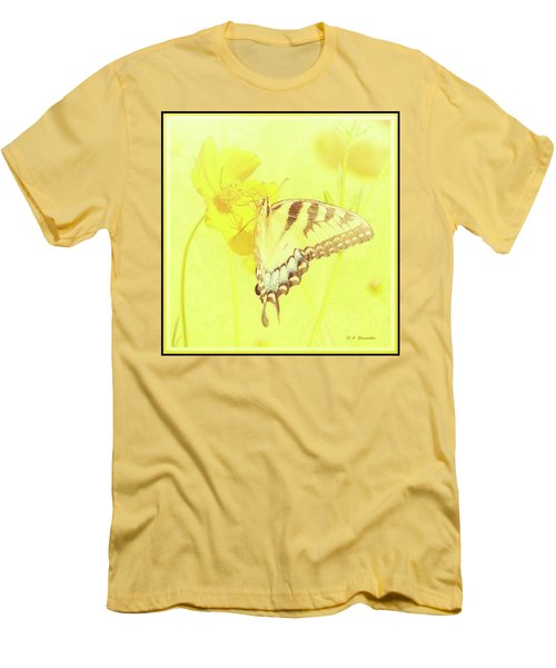 Tiger Swallowtail Butterfly On Cosmos Flower Men's T-Shirt (Athletic Fit)
