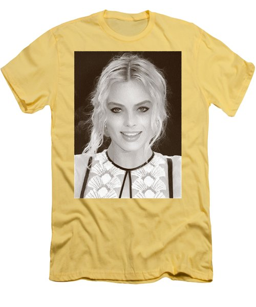Actress Margot Robbie Men's T-Shirt (Athletic Fit)