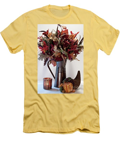A Autumn Day Men's T-Shirt (Slim Fit) by Sherry Hallemeier
