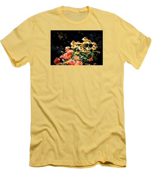 A Bright Flower Patch Men's T-Shirt (Athletic Fit)