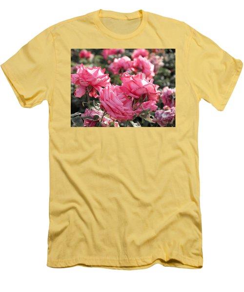 Men's T-Shirt (Slim Fit) featuring the photograph A Bunch Of Pink by Laurel Powell