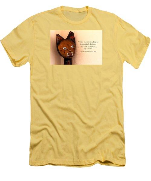 A Cat Is More Intelligent Men's T-Shirt (Athletic Fit)