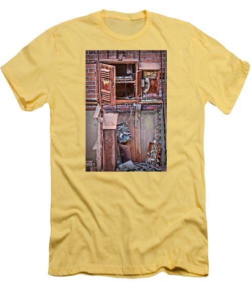 Men's T-Shirt (Slim Fit) featuring the photograph A Collaboration Of Rust by DJ Florek