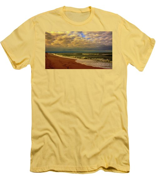 Men's T-Shirt (Slim Fit) featuring the photograph A Congregation Of Clouds by John Harding