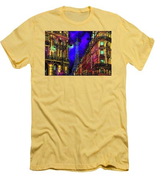 A Corner In Paris Men's T-Shirt (Slim Fit) by DC Langer