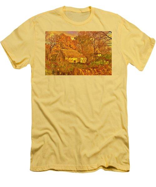 A Cotswald Fall  Men's T-Shirt (Slim Fit) by Daniel Thompson