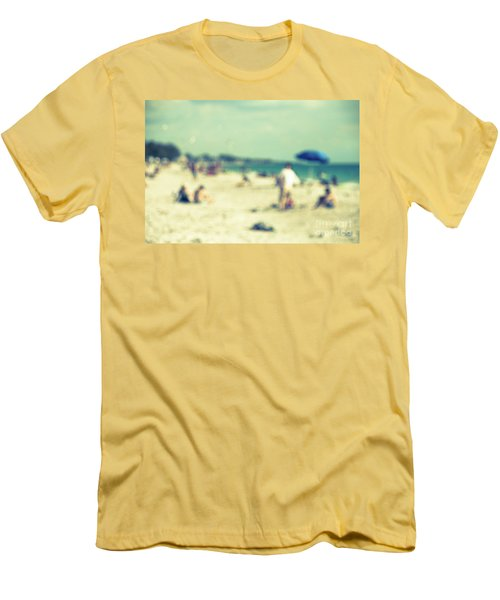 Men's T-Shirt (Slim Fit) featuring the photograph a day at the beach I by Hannes Cmarits