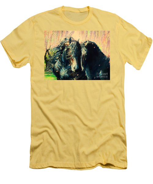 A Friesian Romance Men's T-Shirt (Athletic Fit)