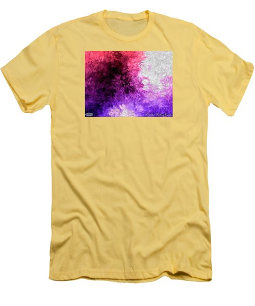 Men's T-Shirt (Slim Fit) featuring the painting A Lotta Fight by Holley Jacobs