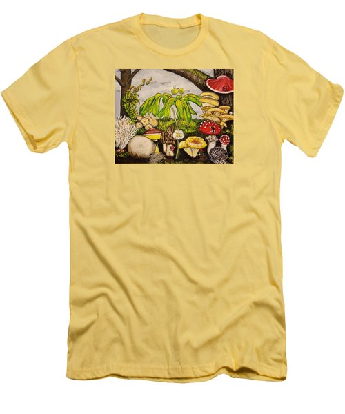 A Mushroom Story Men's T-Shirt (Slim Fit) by Alexandria Weaselwise Busen