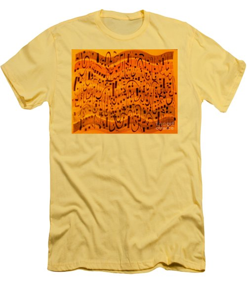 Men's T-Shirt (Slim Fit) featuring the painting A New Song by Nancy Kane Chapman