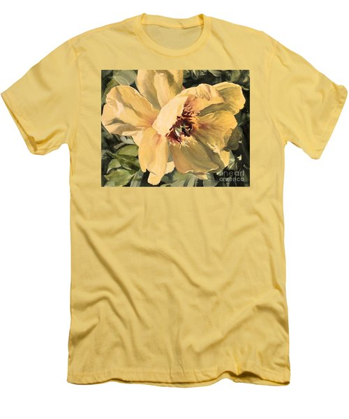 A Peony For Miggie Men's T-Shirt (Slim Fit) by Laurie Rohner